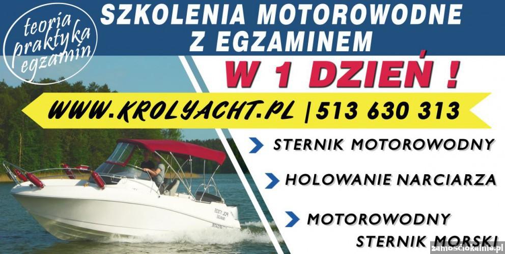 Kurs szkolenie STERNIK motorowodny z EGZAMINEM w 1 dzień