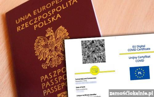 Zaświadczenie o szczepieniu Covid 19, Paszport UCC, Unijny Certyfikat Covid, Negatywny test Covid